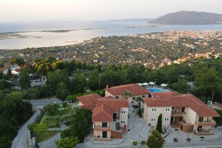 lefkada semiramis hotel sunset view